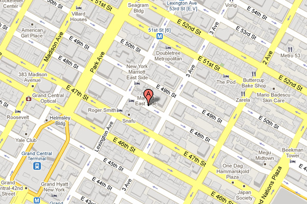 map of 147 East 48th Street, New York, NY, 10017
